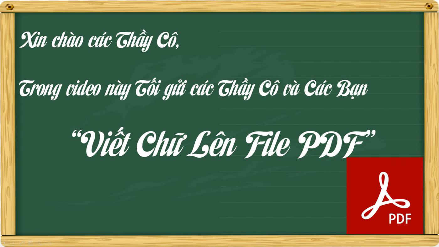 Viết Chữ Lên File PDF